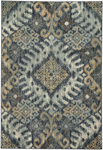 Capel Beckett 4818-410 Diamond Blue Gold Area Rug