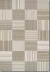 Couristan Afuera 5038/6031 Patchwork Beige/Ivory Closeout Area Rug