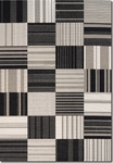 Couristan Afuera 5038/9138 Patchwork Onyx/Ivory Closeout Area Rug