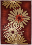 United Weavers Contours 510 20229 Dahlia Terracotta Area Rug