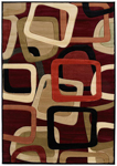 United Weavers Contours 510 20334 Salsa Burgundy Closeout Area Rug