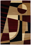 United Weavers Contours 510 20734 Urban Angles Burgundy Area Rug