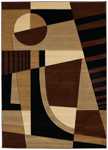 United Weavers Contours 510 20759 Urban Angles Toffee Closeout Area Rug