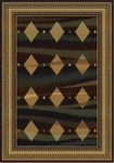 United Weavers Horizons 520 31572 Jaded Diamonds Ebony Closeout Area Rug