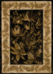 United Weavers China Garden 550 30270 Aruba Black Area Rug
