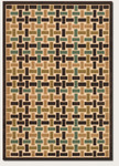 Couristan Urbane 5748/0148 City Blocks Sand/Brown Closeout Area Rug - Spring 2011
