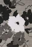 United Weavers Cristall 580 11872 Snow Blossom Grey Area Rug