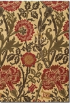 Couristan Alameda 5978/0040 Climbing Florals Beige/Fern Closeout Area Rug - Spring 2015