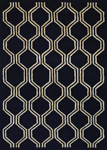 Couristan Amara 6030/0001 Juneberry Black-Cream Closeout Area Rug - Spring 2017