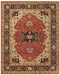 Feizy Ustad 6112F Red/Black Area Rug