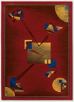 Couristan Metropolis 6214/8260 Voyager/Red Closeout Area Rug