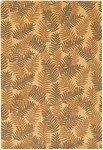 Couristan Bali 6274/0004 Tropical Ferns/Tropical Gold Closeout Area Rug