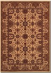 Couristan Himalaya 6288/8516 Kailash Antique Cream/Persian Red Closeout Area Rug - Spring 2017