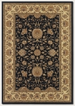 Couristan Izmir 7088/1000 Floral Isfahan Black Closeout Area Rug