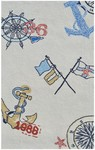 Rug Market Kids Nautical 71113 Nautical White/Blue/Red Closeout Area Rug