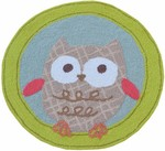 Rug Market My First Rug 71118 Owl Yellow/Blue/Brown Area Rug
