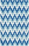 Rug Market Kids Tween 71150 Surge Blue/Aqua/White Area Rug