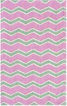 Rug Market Kids Tween 71156 Chevy-Care Green/White/Rose Area Rug