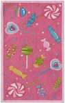 Rug Market Kids Playful Girl 71158 Candy Store Fuschia/Pink/Green Area Rug