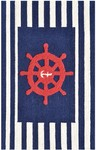 Rug Market Kids Nautical 71167 Navy Blue/Red/White Area Rug
