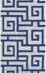 Rug Market Ecconox 72333 Rome Navy Blue/White/Navy Closeout Area Rug