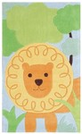Rug Market Kids My First Rug 74011 Roar Orange/Green/Blue Area Rug