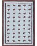 Rug Market Kids 74041 Starzapalooza Blue/Brown Closeout Area Rug