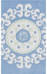 Rug Market Kids 74042 Suzani Blue/White Closeout Area Rug