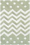 Rug Market My First Rug 74076 Zigzag Dot Green Area Rug
