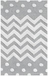 Rug Market My First Rug 74077 Zigzag Dot Grey Area Rug