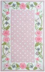 Rug Market Kids Floral 74083 Garden District Border Pink/Green/White Closeout Area Rug