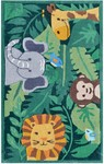 Rug Market My First Rug 74091 Jungle Party Green/Grey/Brown Area Rug