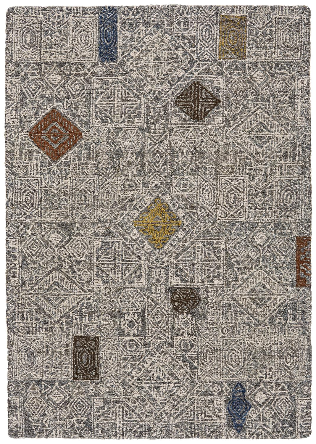 Feizy Turvey 8724F IVORY/MULTI Closeout Area Rug