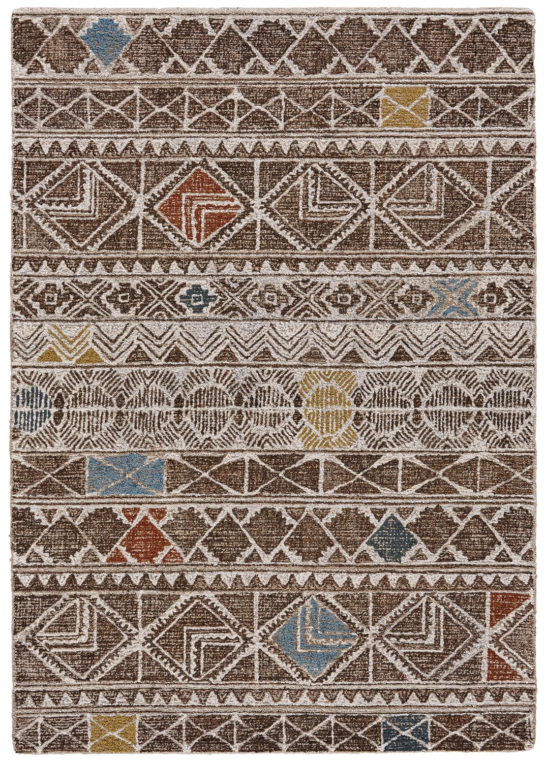 Feizy Turvey 8725F BROWN/MULTI Closeout Area Rug