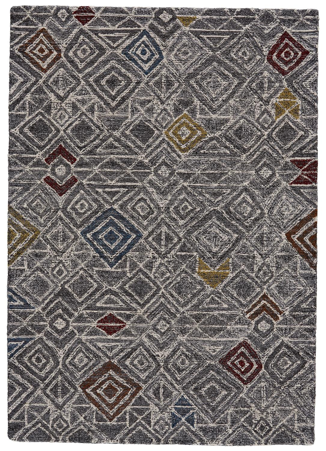 Feizy Turvey 8728F CHARCOAL/MULTI Closeout Area Rug