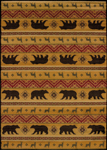 United Weavers Affinity 750 03353 Nordic Bear Spice Area Rug