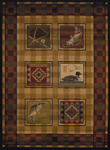 United Weavers Affinity 750 04143 Lodge Stamp Area Rug