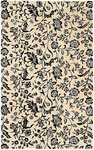 HRI South Beach 7746A Ivory/Black Closeout Area Rug