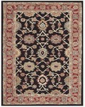 Feizy Yale 8136F Black/Red Closeout Area Rug