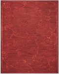 Feizy Tingtang 8157F Red Closeout Area Rug