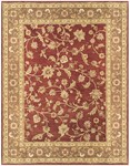 Feizy Salinas 8180F Red/Chocolate Closeout Area Rug