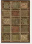 Couristan Kenya 8207/7925 Basketweave Collage Olive/Multi Closeout Area Rug