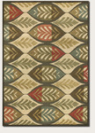 Couristan Kenya 8208/0749 Palmetto Ivory/Multi Closeout Area Rug
