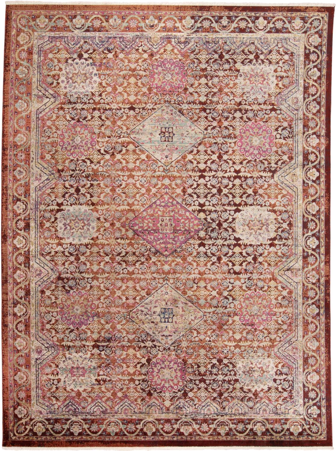 Feizy Torina 3878F RUST/MULTI Closeout Area Rug