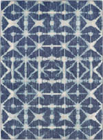 Karastan Expressions 91669 50102 TriCorner Accordion Indigo by Scott Living Area Rug