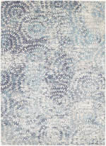 Karastan Expressions 91671 60110 Imprinted Blooms Aqua by Scott Living Area Rug