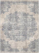 Karastan Expressions 91672 50102 Dharma Medallion Indigo by Scott Living Area Rug