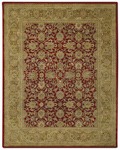 Capel Velvet 9212-525 Meshed Tuscan Red Area Rug