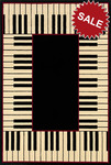 Oriental Weavers Andy Warhol Signature 92K Piano Keys Black Closeout Area Rug