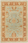 Surya Ainsley AIN-1003 Pale Blue/Rust Brown Closeout Area Rug - Spring 2010